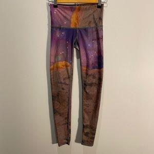 Teeki space love hot pants leggings galaxy rock